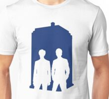 Two Doctors. One Tardis.  Unisex T-Shirt