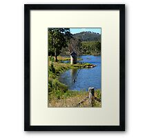 Against The Flow Framed Print