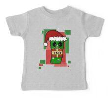 Minecraft Christmas Creeper  Baby Tee