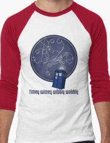 timey wimey wibbly wobbly Men's Baseball ¾ T-Shirt