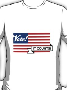 VOTE! Party-Neutral Participation Encouragement T-Shirt