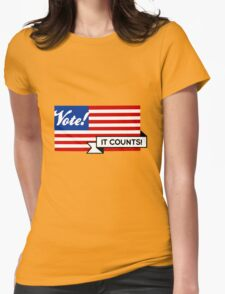 VOTE! Party-Neutral Participation Encouragement Womens Fitted T-Shirt