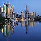 Reflections of Brisbane by Steve Bass