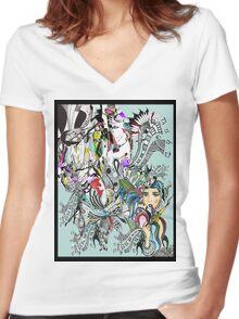 art of lust  Women's Fitted V-Neck T-Shirt