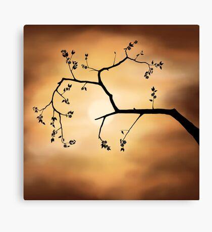 Cherry Blossom over Dramatic Sky art photo print Canvas Print