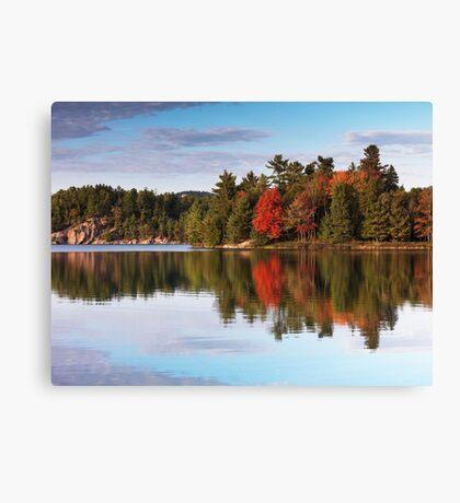 Autumn Nature Lake and Trees art photo print Canvas Print