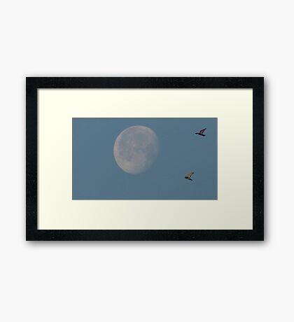 Sunday Morning Moon 6 Framed Print