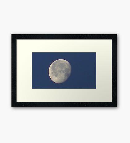 Sunday Morning Moon 8 Framed Print
