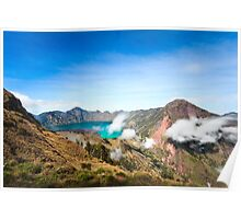 Rinjani Crater Rim Poster