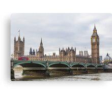 London Big Ben and Parliament River Thames Canvas Print
