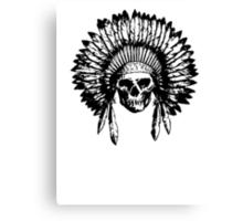Native American Skull Canvas Print