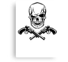 Skull With Guns Canvas Print