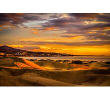 Maspalomas dunes in sunrise Photographic Print