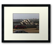 View of Sydney Opera House from Harbour Bridge Framed Print