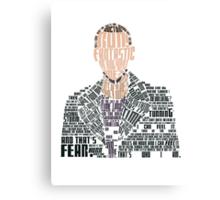Ninth Doctor Portrait Typography Canvas Print