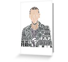 Ninth Doctor Portrait Typography Greeting Card
