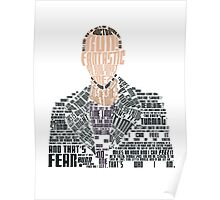 Ninth Doctor Portrait Typography Poster