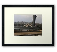 Sydney Harbour View of Opera House Framed Print