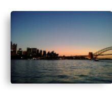 Sydney Harbour Pixels Canvas Print