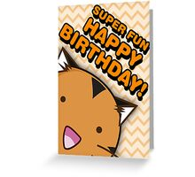 Fuzzballs Happy Birthday Tiger Greeting Card