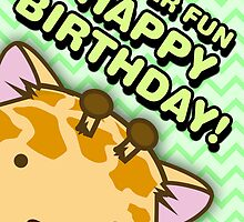 Fuzzballs Happy Birthday Giraffe by rabbitbunnies