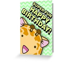 Fuzzballs Happy Birthday Giraffe Greeting Card