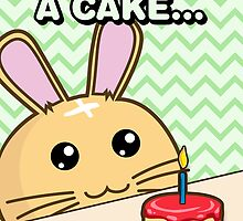 Fuzzballs I Made You A Cake Bunny by rabbitbunnies