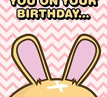 Fuzzballs I'm Watching You On Your Birthday Bunny by rabbitbunnies