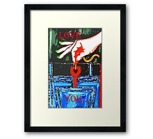 LOVE YOU 9 Framed Print
