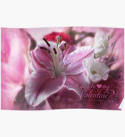Valentine in Pink Poster