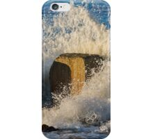 Wave crashing at Lossiemouth iPhone Case/Skin