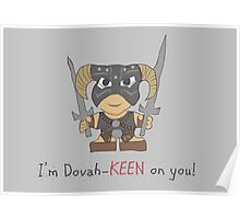Skyrim Valentines: I'm Dovah-Keen on You Poster
