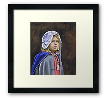 Girl in English civil war clothing Framed Print
