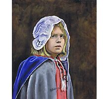 Girl in English civil war clothing Photographic Print