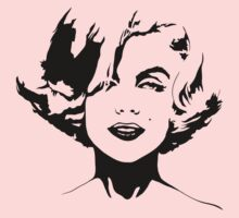 Marilyn Monroe - Black Outline by Kelmo