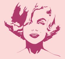 Marilyn Monroe - Pink Outline by Kelmo