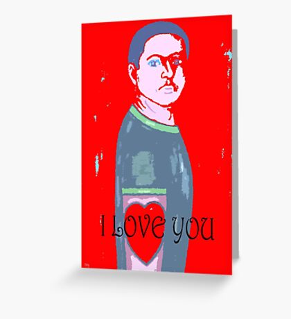 I LOVE YOU 2 Greeting Card