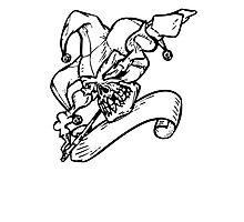 Joker Skull Photographic Print