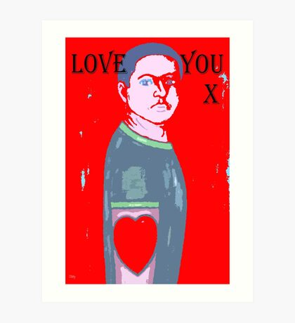 LOVE YOU 10 Art Print