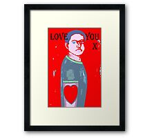 LOVE YOU 10 Framed Print