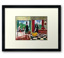 Healthcare Then and Now. Framed Print