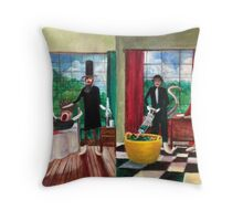 Healthcare Then and Now. Throw Pillow