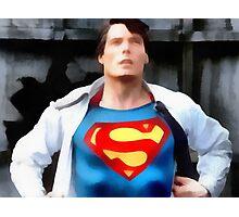 Superman changing Photographic Print