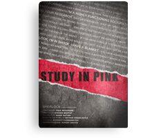A Study in Pink fan poster Metal Print