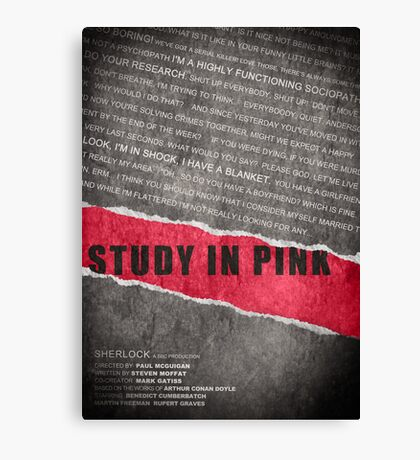 A Study in Pink fan poster Canvas Print
