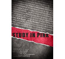A Study in Pink fan poster Photographic Print