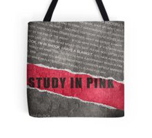 A Study in Pink fan poster Tote Bag