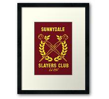 Sunnydale Slayers Club Framed Print