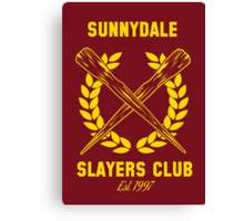 Sunnydale Slayers Club Canvas Print