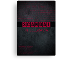 A Scandal in Belgravia fan poster Canvas Print